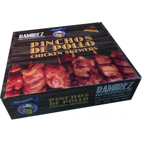 Pinchos de pollo congelados 30 uds.
