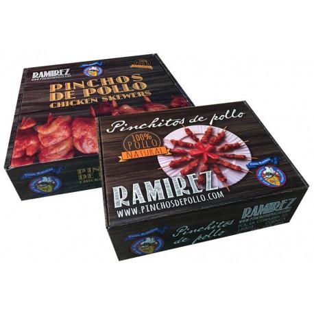 Pack caja pincho + caja pinchitos de pollo congelados