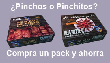 Oferta Pack de pinchos + pinchitos